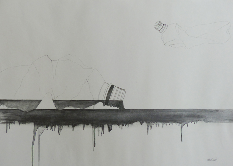 Graphit auf Papier, 50 x 70 cm