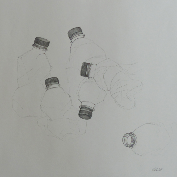 Graphit auf Papier, 50 x 50 cm